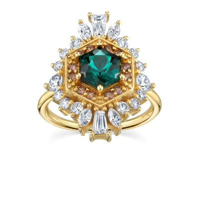 Tourmaline Hex Ballerina Ring