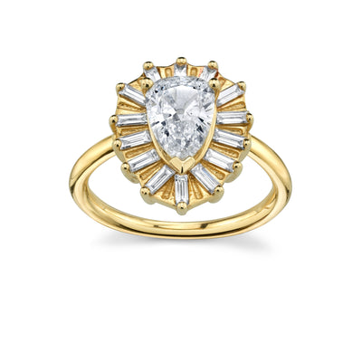 Yellow Gold Vintage Anne Engagement Ring