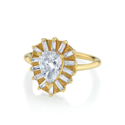 Yellow Gold Vintage Anne Engagement Ring - Marrow Fine