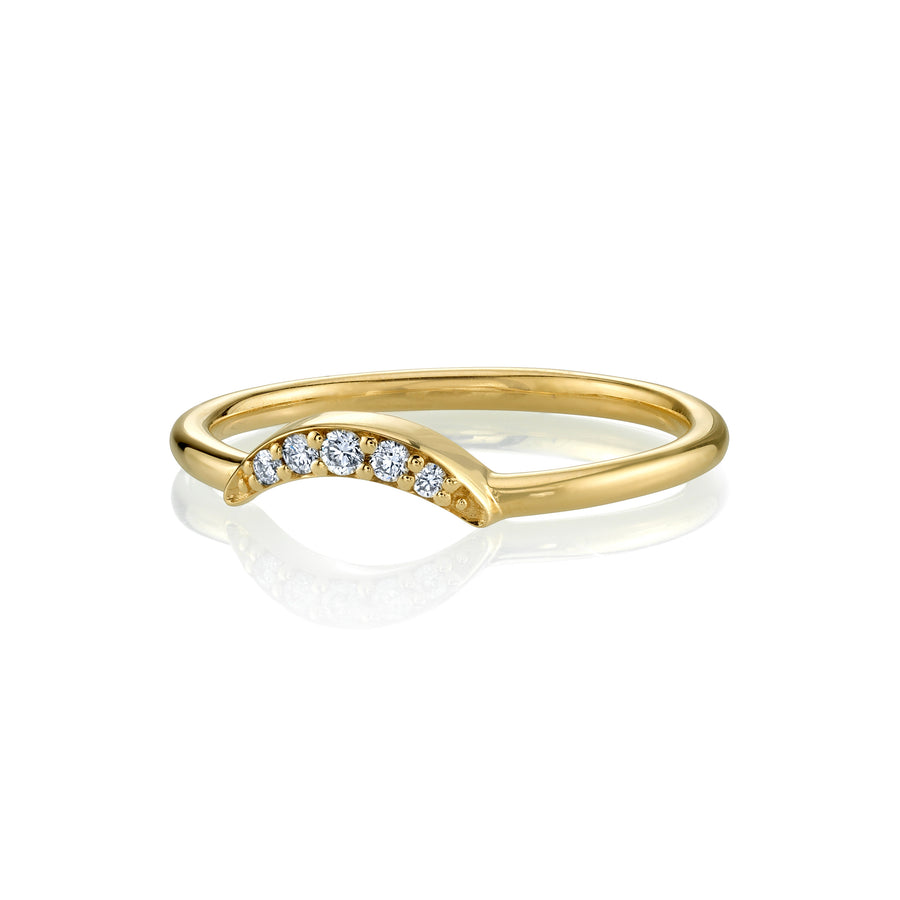 White Diamond Arch Ring - Marrow Fine