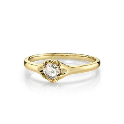 White Diamond Buttercup Ring