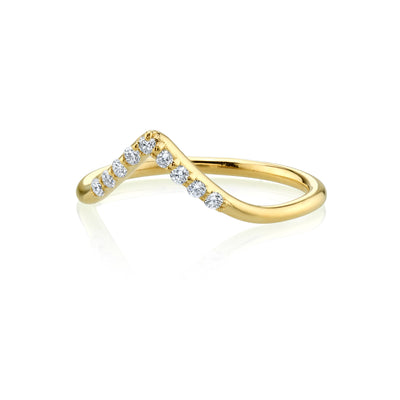 White Diamond Triangle Nesting Ring - Marrow Fine
