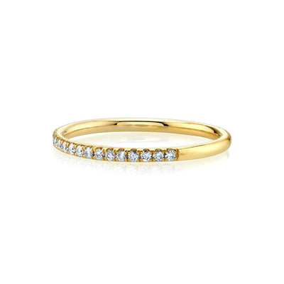 White Diamond Whisper Half Eternity Band