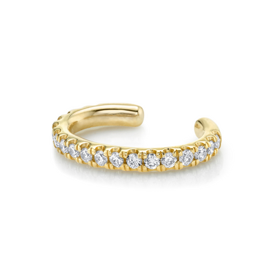 White Diamond Pavé Ear Cuff