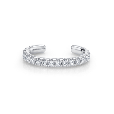 White Diamond Pavé Ear Cuff - Marrow Fine