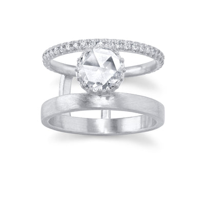 Winter's Rose Engagement Ring