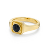 Black Onyx Boyfriend Signet Ring - Marrow Fine