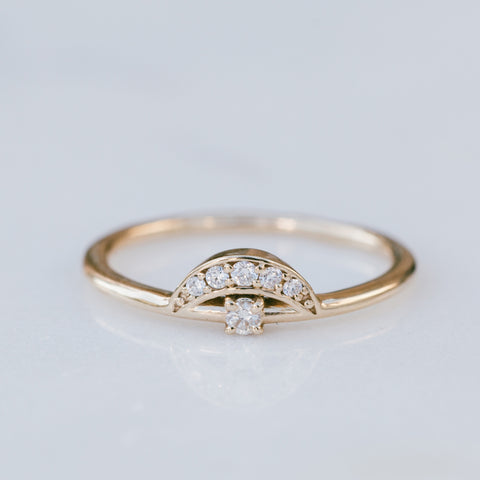 Cleo Arch Stacking Ring