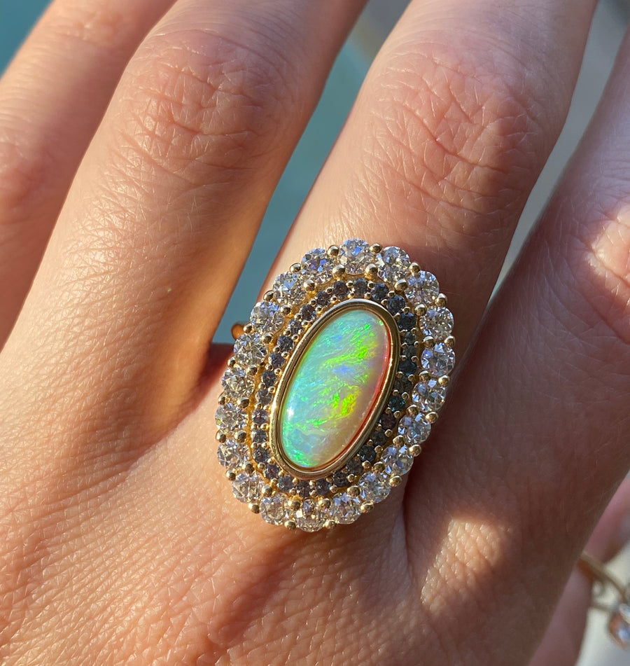 Opal Moval Cocktail Ring - Marrow Fine