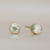 Old Mine White Diamond Studs