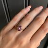 Dusty Rose Oval Sapphire Ring