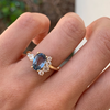 Madagascar Blue Sapphire Spray Engagement Ring