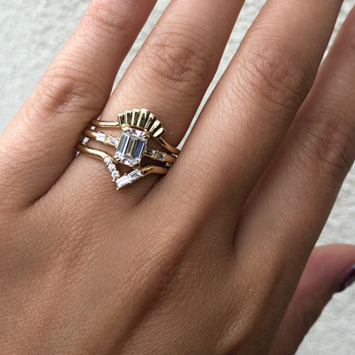 The Quincey Baguette Engagement Ring - Marrow Fine