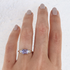 Three-Stone Lavender Sapphire Ring - Marrow Fine
