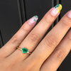 Emerald Shield Bezel Ring - Marrow Fine