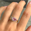 Asymmetrical Pink Sapphire Ring Set - Marrow Fine