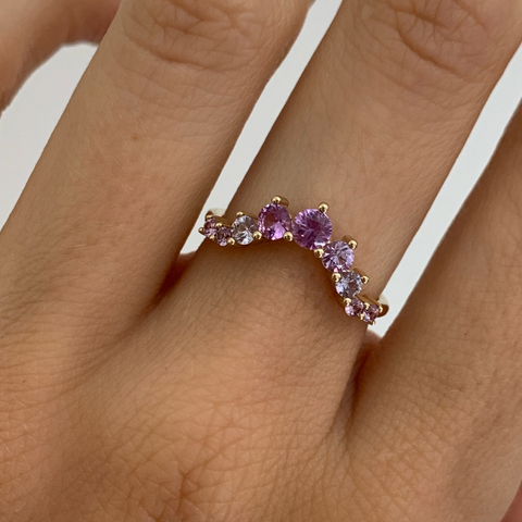 Lavender Sapphire Stacking Band - Marrow Fine