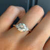 1.75ct Old Euro Cut Trillion Engagement Ring