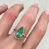 Elongated Emerald Pear Ring - Marrow Fine