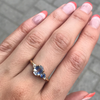 Light Blue Bicolor Sapphire Ring