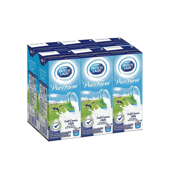 Punggol - Dutch Lady Purefarm™ UHT Milk Assorted Flavours 200ml x 6packs