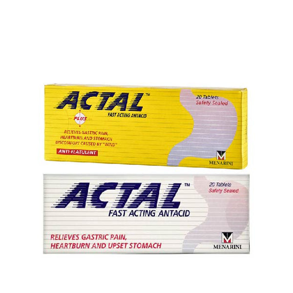 Actal Fast Acting Antacid (20 Tablets)