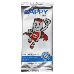 Zappy IPA Alcohol Wipes - 100s/packer for $34