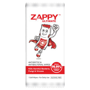 Zappy Antiseptic Wipes - 100s/packet for $34