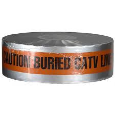 Detectable Tape, Caution Buried CATV Line  Below (DU-08-3) - Rompro Industrial Supply