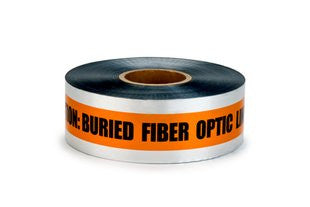 Detectable Tape, Caution Fiber Optic Line Below - Rompro Industrial Supply
