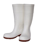 SUPER TUFF, White, Safety Rubber Boots - Rompro Industrial Supply