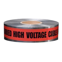 Detectable Tape, Caution Buried High Voltage Line Below (DU