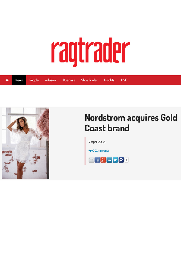 Ragtrader: Nordstrom Acquires Gold Coast Brand