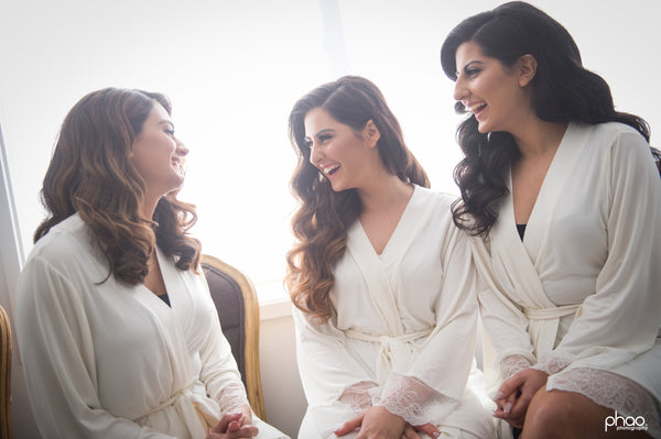 Homebodii Ivory Bridesmaid Robes