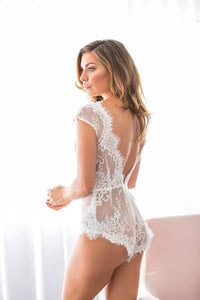 Tatiana Lace Bodysuit  - Ivory - Homebodii US