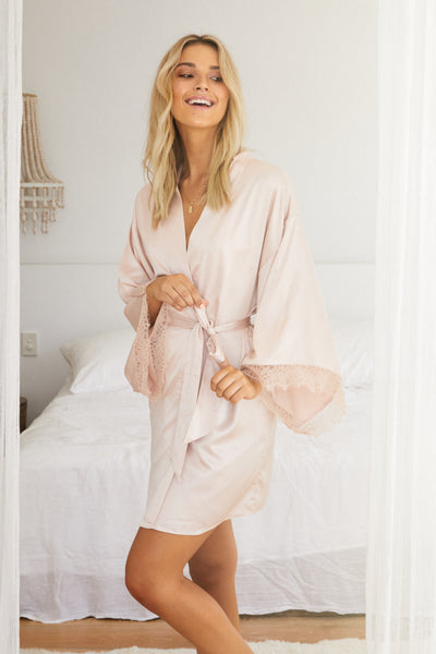 Astrid Robe - Blush - Homebodii US