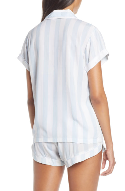 Blue Stripe Short PJ Set - Homebodii US