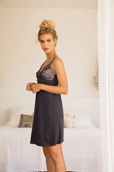 Mirabella Maternity Nightie - Charcoal - Homebodii US