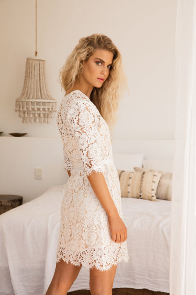Natalia Lace Robe - Homebodii US