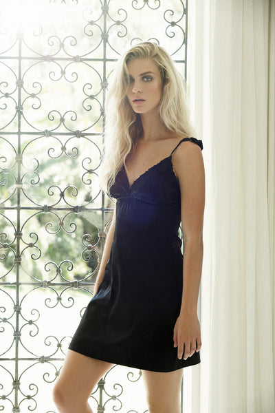 Astra Chemise - Black - Homebodii US