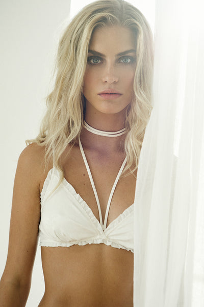 Astra Bralette - White - Homebodii US