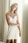 Astra Chemise - White - Homebodii US