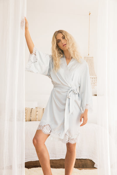 Olivia Robe - Eggshell Blue - Homebodii US
