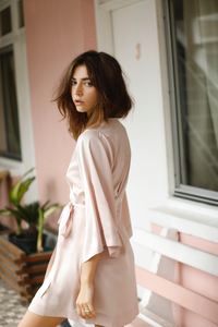 Jasmine Robe - Blush - Homebodii US