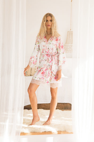 Liv Floral Robe - Homebodii US