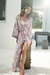 Talulah Long Boho Robe - Blush