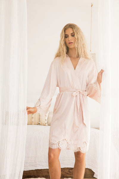 Olivia Robe - Blush - Homebodii US