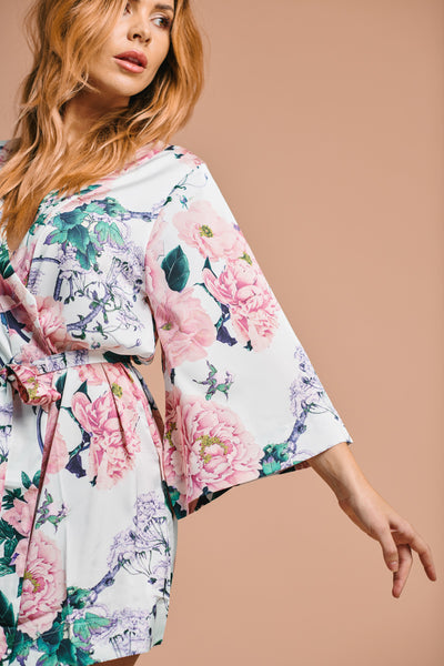 Philomena Floral Robe - Homebodii US