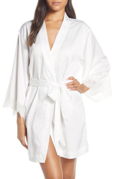 Juliette Bride Embroidered Robe - White - Homebodii US