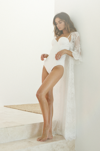 Kassiah Long Lace Robe - Homebodii US